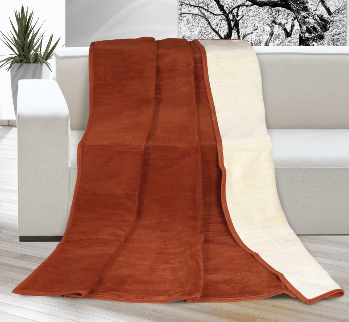 Velká deka larisa oříšková / béžová 200 x 230 cm