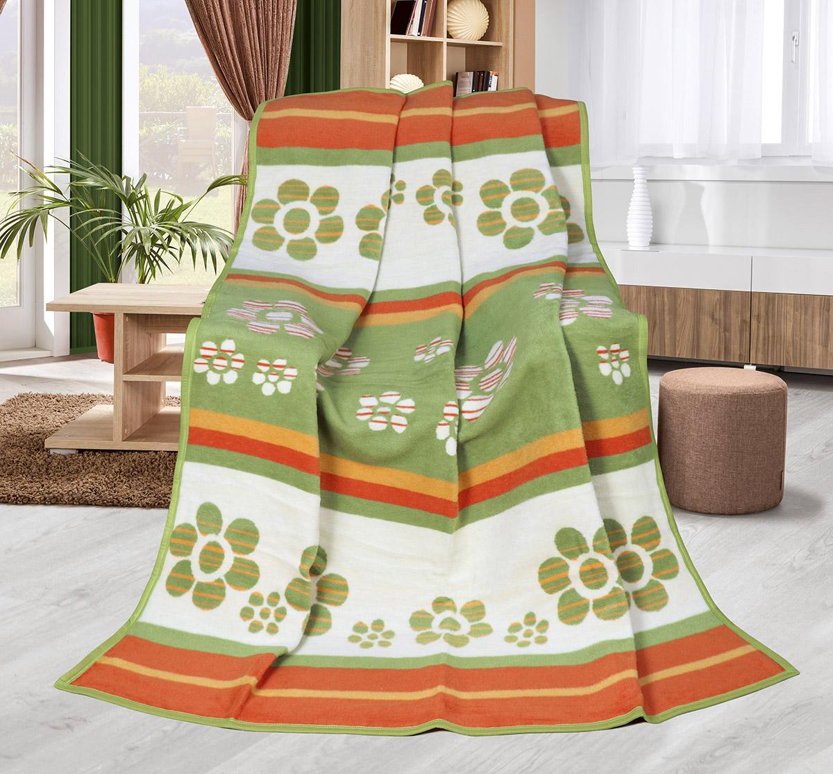 Zelené květy deka larisa