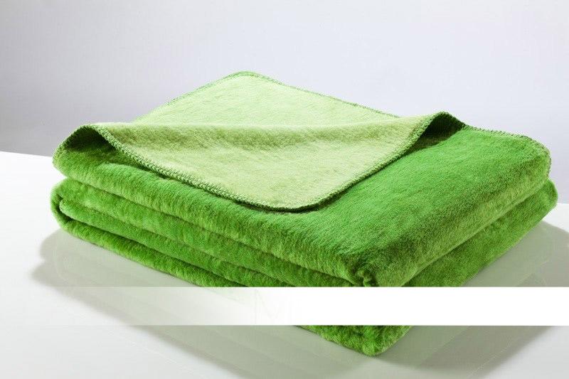 Hrášková světlá a tmavá bavlněná deka