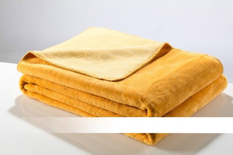 Žlutá a medová bavlněná deka