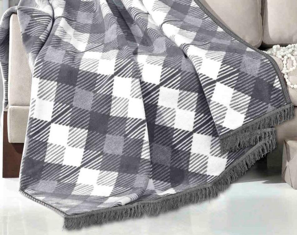 Silver modern bavlněná deka