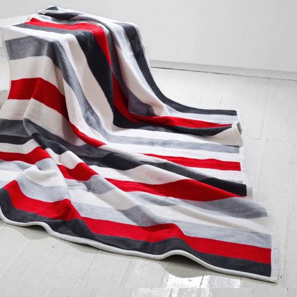 Red Strip bavlněná deka