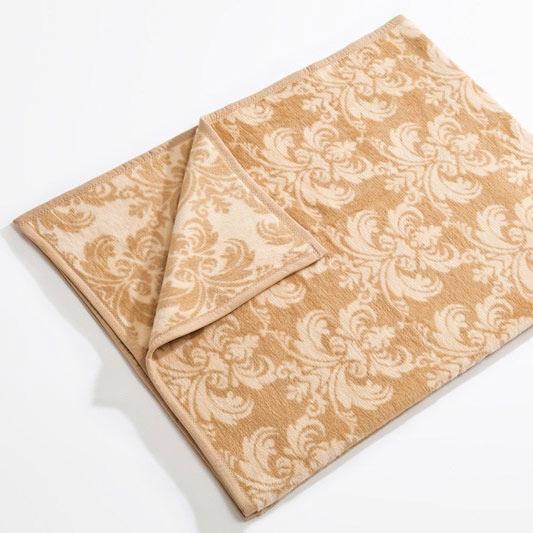 Boldier Béžová bavlněná deka